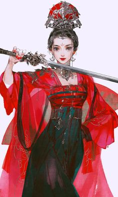 Female Character Design, Character Design Inspiration, Character Art, Anime Art Girl, Manga Girl, Dibujos Anime Chibi, Chinese Drawings, China Art, Fantasy Girl