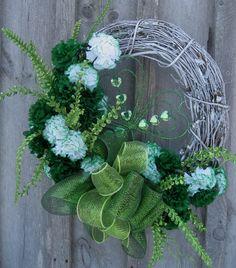 St Patricks Day Wreath Spring Wreath Irish by NewEnglandWreath, $129.00