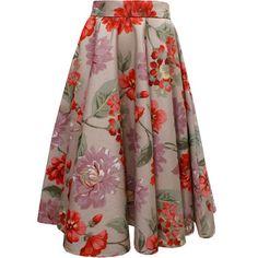 Saia gode inteiro, estampada, com pala. Formal Skirt, Embroidered Tunic, Dress Skirt, Style Me, Fall Winter, Tunic Tops, Comfy, Outfits, Dresses