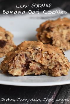 Super simple banana oat cookies! Delicious for breakfast or as a snack. Low FODMAP, gluten free, dairy free and vegan