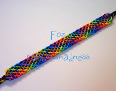 Learn to make your own colorful bracelets of threads or yarn. Diy Rainbow Friendship Bracelets, Friendship Bracelet Patterns, Colorful Bracelets, Rainbows, Bff, Craft Ideas, Sewing, Random, Crafts
