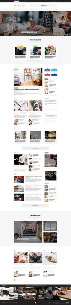 Great Magazine is a uniquely designed #Psd #Template for Magazine, Newspaper or #blogs website. Download Now!