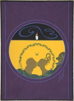 """Penelope""by Erté, March 1921 -- Cover Design for Harper's Bazar"