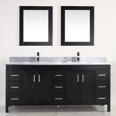 "Found it at Wayfair - Coraline 75"" Double Bathroom Vanity Set with Mirror"