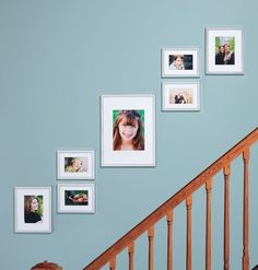 Staircase Wall Decorating Design Ideas (Staircase Wall Decorating Design Ideas) design ideas and photos - Wall Decor Stairway Picture Wall, Stairway Pictures, Stairway Gallery Wall, Modern Gallery Wall, Gallery Wall Layout, Hang Pictures, Picture Frames, Decorating Stairway Walls, Staircase Wall Decor