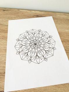 Mandala printable 'Beauty' digital art crystal grid   Etsy