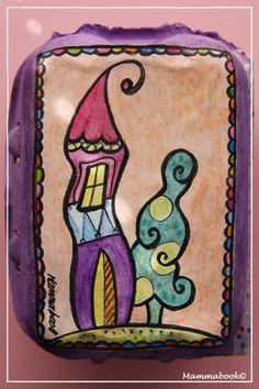 Mammabook: Casetta in una scatola delle uova – Dollhouse in a egg box