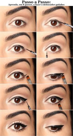 10 Simple Step by Step Eyeliner . - 10 Simple Step By Step Eyeliner Tutorials For Beginners – Make Up Tutorials - Eyeliner Hacks, Eyeliner Styles, No Eyeliner Makeup, Skin Makeup, Eyeliner Pencil, Eyeliner Ideas, Black Eyeliner, Eyeliner Brands, Silver Eyeliner
