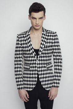 Diamond Printed Jacket by Sandor Lakatos Menswear designed in Hungary
