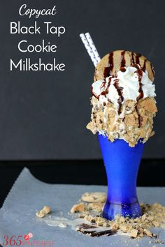 If you can't get to Black Tap in NYC, make your own monster cookie milkshake at home! It's over-the-top delicious.