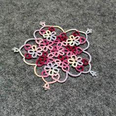 #flowestar #tattinglace #Tatting Race #Busan Typing Race #Flower Star #Creation Drawing #handemade #diy #Handicraft #Beautiful Hobby #Hobby #Tatting #Scotle #Cute Witch