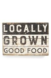 Primitives by Kathy 'Locally Grown Good Food' Box Sign
