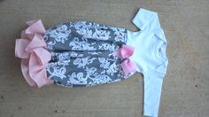 newborn infant custom layette baby girl gown bow shower gift ruffle bottom celebrity kids pictures party pictures home girly chevron ruffle by M2MBoutique on Etsy https://www.etsy.com/listing/198416830/newborn-infant-custom-layette-baby-girl