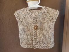 Hand Knit Baby Cardigan Hand Knit Sweater Unisex by bonitastewart