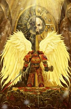 Sanguinius protecting the infinity gate at the siege of terra
