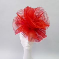 54bb2bfe148 Jasmin Zorlu Molotov Cocktail Hat in pleated red horsehair Molotov Cocktail
