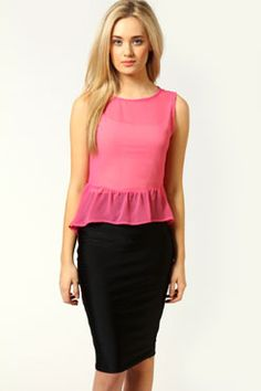 I love this pink peplum top! Cute with white skinnys or a black skirt<3