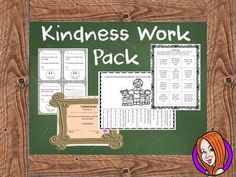 Celebrate Kindness Week!This download includes work sheets to help children with kindness and to express international kindness week. This download includes:- Kindness bingo - Tear off motivational quotes display - Kindness plan work sheet- Kindness award- Kindness notes - Kindness diary- Diary instructions Thanks for looking **************************************************************************Some of my other products: Science Lessons Big Bundle  Space and The Solar System Workbook .