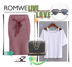 """""""ROMWE"""" by newoutfit ❤ liked on Polyvore"""