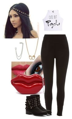 Sem título #828 by rebecadejesusbeca on Polyvore featuring moda, River Island, Penny Loves Kenny, French Connection, Sugar NY and NYX