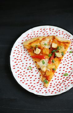 Pineapple Fried Rice Pizza via A Beautiful Mess via Bloglovin.  Wendy Schultz - Pizza Dough & Fillings.