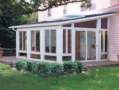 Enclosed Porch Outside View Many People Use Sunrooms To