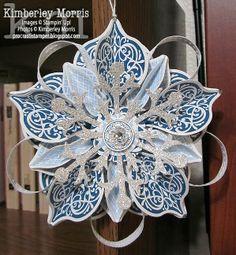 procrastistamper: Holiday Catalog Cover Ornament (Blue, White & Silver)