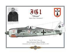 "Fucke Wolf 190A-5 ""Oesau""- Pilota Oberstleutnant Hans Phillip - JG 1, Deleen Netherland, 1941"