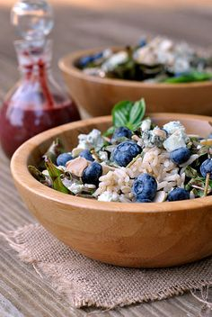 Blueberry Arugula Salad with Brown Rice