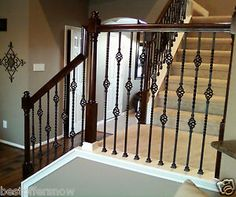 DOUBLE-BASKET-WROUGHT-IRON-BALUSTERS-FAST-SHIPPING