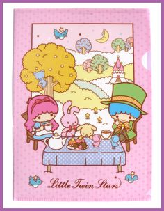 Alice and Mad Hatter   Little Twin Stars Plastic Folder