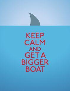 Get a bigger boat Art Print by John Tibbott | Society6