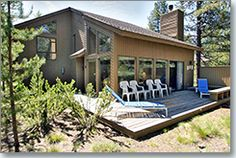 Welcome home to your wonderful little cabin in the woods. It is rare to find a home in Sunriver with as much privacy as this one. Nothing but woods as far as you can see on two sides of this comfortable home. Large vaulted ceilings with two story windows give you a panoramic view of the surrounding forest.