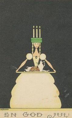 Lucia Morning Einar Nerman 1920 Sweden Coffee Cakes Light Song Music