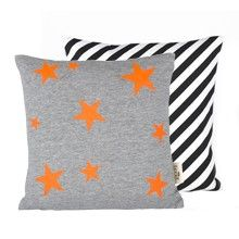Ferm Living Star Neon Hand Printed Pillow, available at #polkadotpeacock. #peacocklove #fermliving