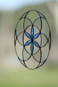 Stained Glass Suncatcher Home decor seed of life by Mownart
