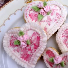 Gorgeous heart shaped cookies!