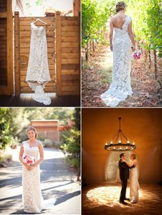 This bride is so beautiful in her wedding gown designed by http://ulla-maija.com / Wedding featured on http://StyleMePretty.com/2012/05/25/calistoga-ranch-wedding-by-sabine-scherer-photography / Photography by sabineschererweddings.com