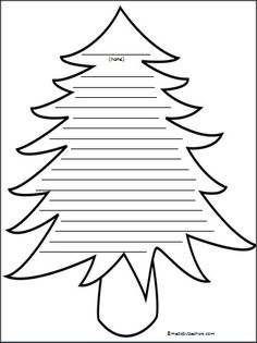 This is a lined single writing page. Use it for your writing during Christmas or for any tree related themes.