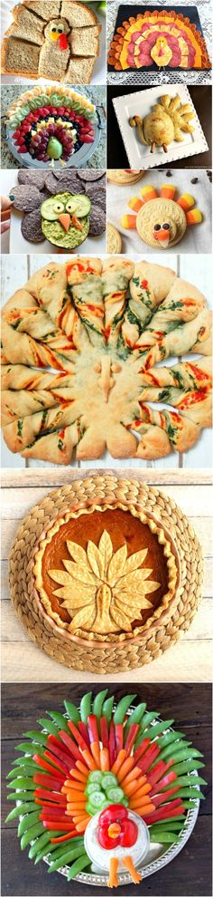 Holiday humor that you can eat! Delicious turkey-shaped foods to amuse and delight for Thanksgiving time. From appetizers to dessert, and the day-after sandwich, we have it covered!