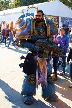 Space Marine cosplay by Maspez Movie Costumes, Cool Costumes, Warhammer 40k Memes, Warhammer 40000, Original Costume Ideas, Best Cosplay, Awesome Cosplay, Steampunk Cosplay, Superhero Movies