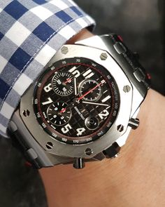 Discover this amazing Audemars Piguet Royal Oak Offshore 'Vampire' from Global Watch Shop. Audemars Piguet Watches, Audemars Piguet Royal Oak, Fine Watches, Watches For Men, Rolex, Mens Gadgets, Royal Oak Offshore, Popular Watches, Casio Watch