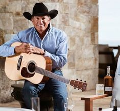 georgestraitGrab your guitar and a bottle of Código, and get ready for the weekend. Young George Strait, George Strait Family, Boy George, King George, Country Musicians, Easton Corbin, Jake Owen, Justin Moore, Brantley Gilbert