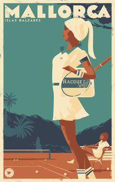 Mallorca Posters on Behance Art Deco Posters, Vintage Travel Posters, Cool Posters, Retro Posters, Poster City, Poster Ads, Poster Prints, Advertising Poster, Illustrations Vintage