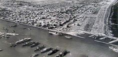 aerial view of Port Said, Nov. 1956 - This day in History: Oct 29, 1956: Israel invades Egypt; Suez Crisis begins