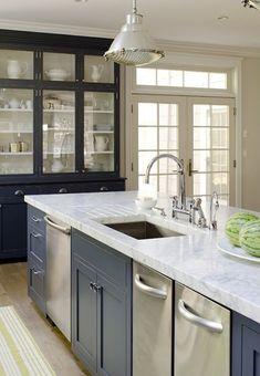 Elegant 30 Moderne Marmor Küchen Design Ideen