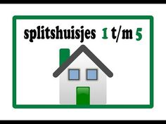 Splitshuisje 1 t/m 5 - YouTube Spelling, Circuit, Classroom, Letters, Math, School, Youtube, Math Resources, Early Math