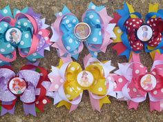 Disney Princess Hairbow Set Deluxe Boutique Hair Bow Set So Cute for Disney. $39.99, via Etsy.