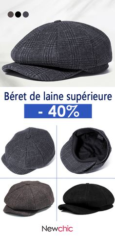 44a4918755c Vintage Men Wool Gird Beret Hat Octagonal Newsboy Cap Winter Casual Cabbie Cap  Driving is hot sale on Newchic.