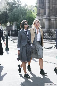 Outside Thom Browne / Paris Fashion Week SS18